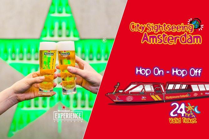 Heineken Experience & City Sightseeing Amsterdam Hop-On Hop-Off Boat