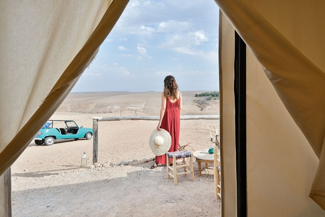Marrakech Agafay Desert Sunset Camel Ride and Overnight Stay in Luxury Tent