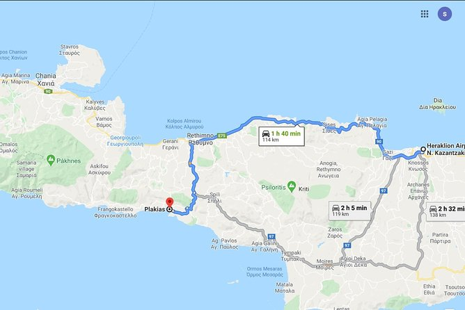 Heraklion Airport to South Rethymno or Reverse Trip up 8 Pax