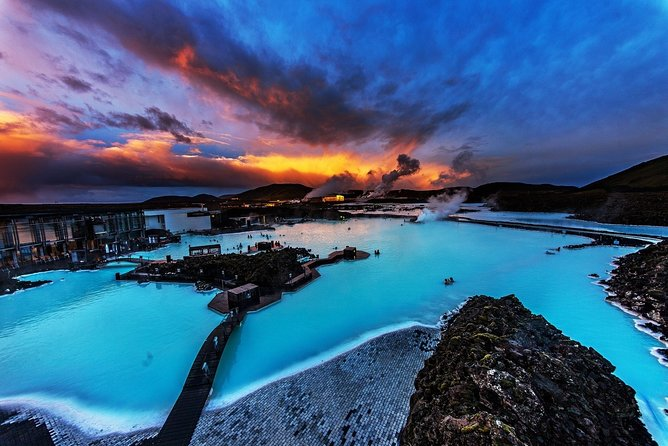 Unique bathing in an Icelandic hot springs at the Blue Lagoon
