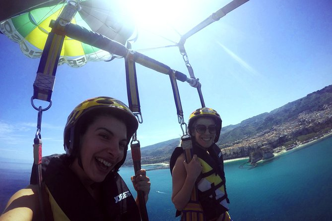 Double Parasailing flight to Tropea in Small Group