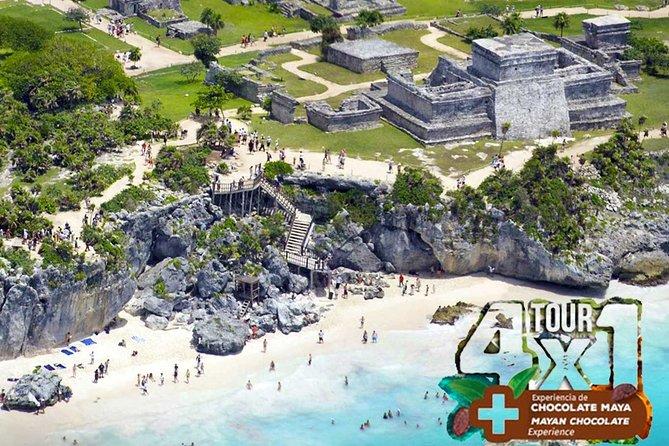 4x1 Tour Tulum and Coba with 2 Cenotes Playa del Carmen Chocolate Maya Experience