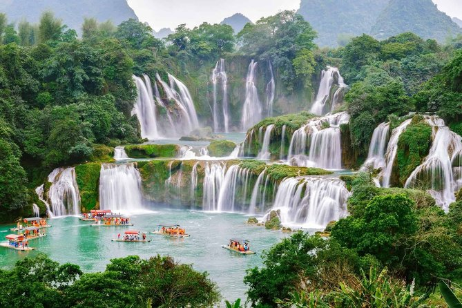 8-day Hanoi Ban Gioc Waterfall Ba Be lake Ninh Binh Halong Bay