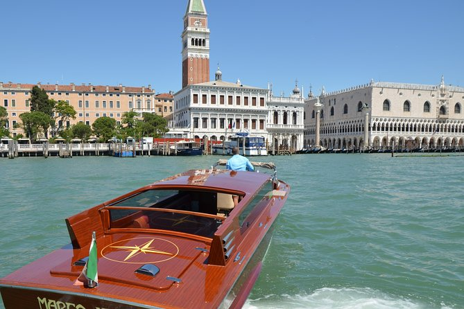 Venice Sunset Experience with Private Luxury Boat and Bottle Prosecco