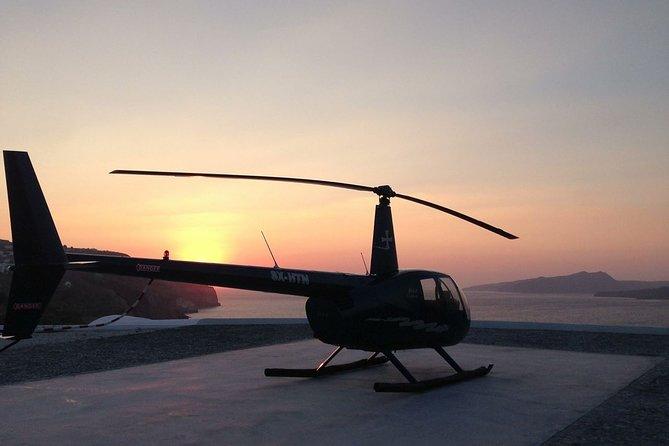 Ios to Santorini Helicopter Flight