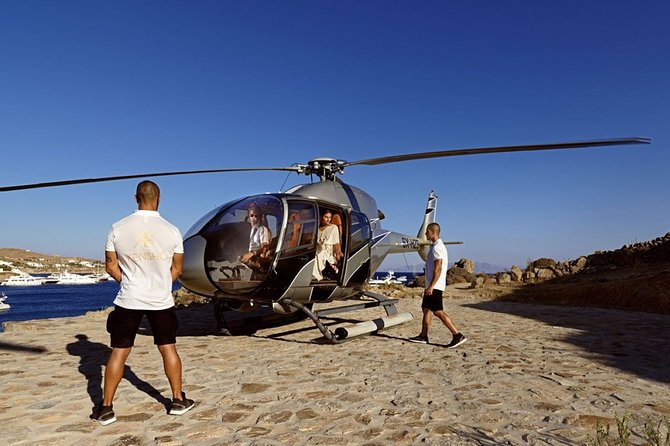 Athens to Mykonos Helicopter Flight