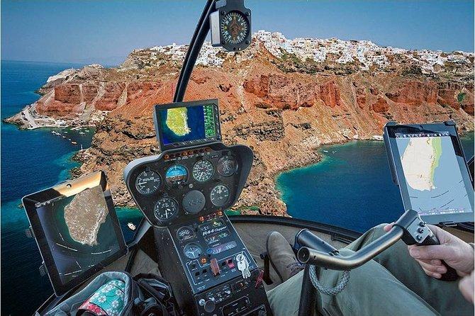 Santorini to Milos Helicopter Flight