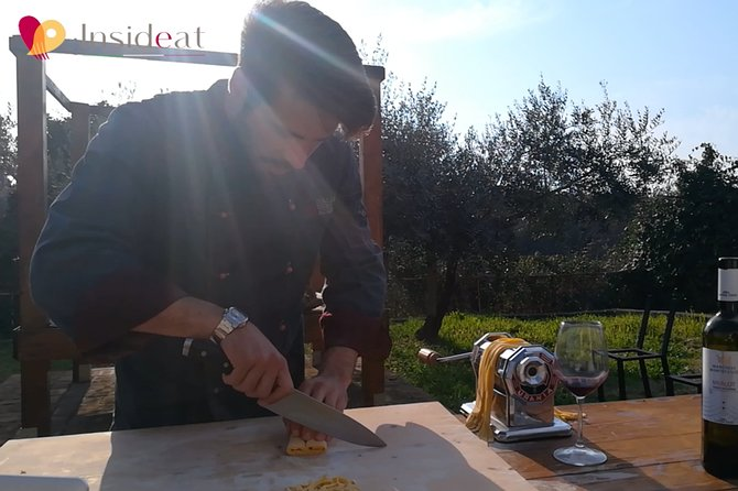 Online Live Cooking Class: Pasta, Ravioli & Tomato Sauce.