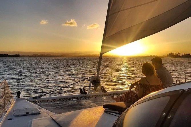 Passeio de catamarã ao pôr do sol em San Juan