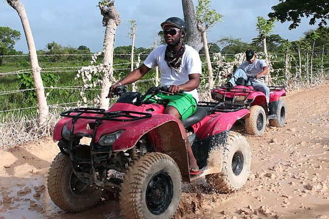 ATV 4 Wheel solo adventure with Cave & Beach from Punta Cana (Half Day)