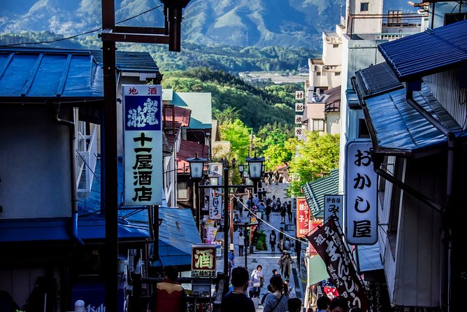 From Tokyo: Fukiware Falls, Fruit Picking & Ikaho Onsen 1-Day Tour in Gunma