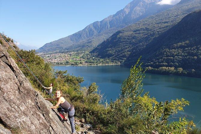 Climbing course / test on Lake Como
