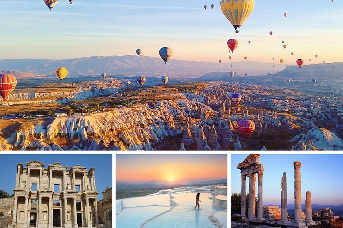 6 Days Turkey Tour Gallipoli, Troy, Ephesus, Pamukkale, Cappadocia Tour