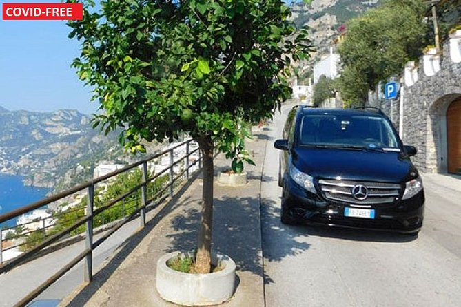Naples: Private Transfer to Sorrento or Amafi Coast with 2-Hour Stop in Pompeii