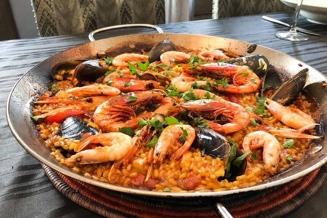 Traveling Spoon Seafood Paella and Sangria Private Online Cooking Class