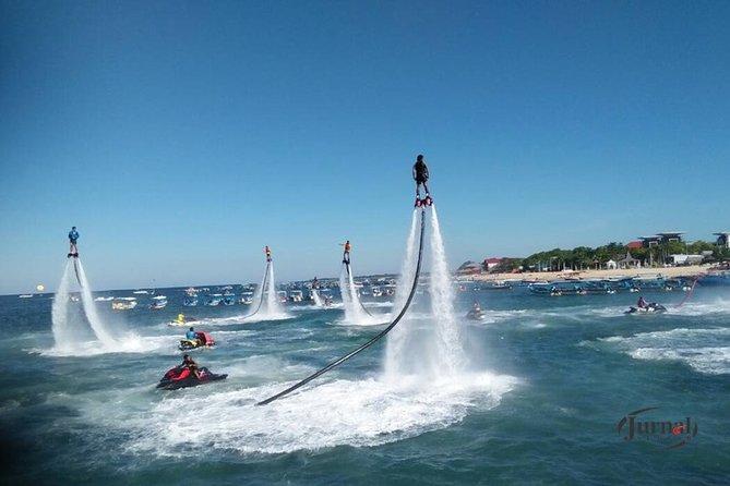 Actively enjoy marine sports! Popular fly board + selectable marine sports (parasailing + jet ski + banana boat etc.) Round trip hotel transfer included