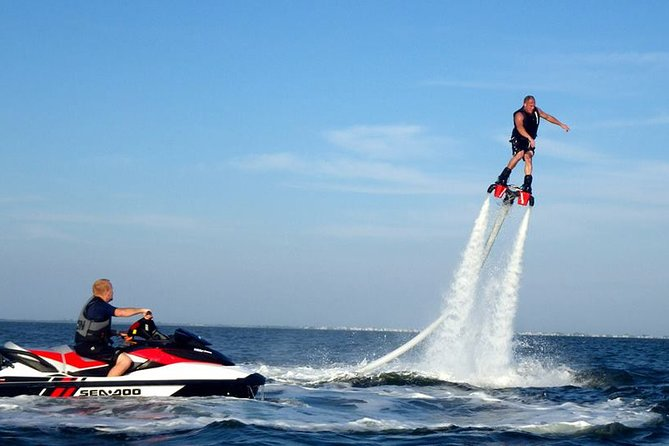 Actively enjoy marine sports! Popular fly board + selectable marine sports (parasailing + jet ski + banana boat etc.) Round trip hotel transfer included