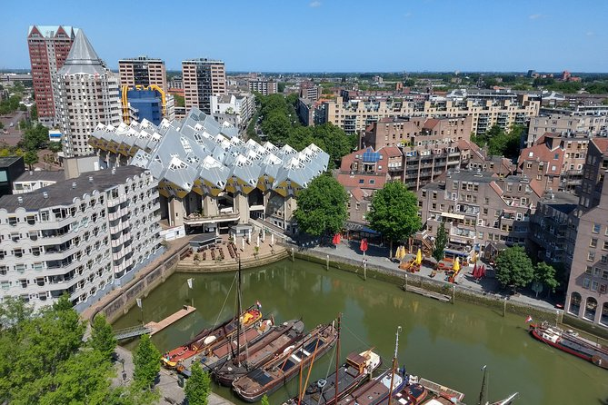 Guided Tour: Rotterdam, Markthal, Water Taxi, Wilhelminapier and Rooftop View