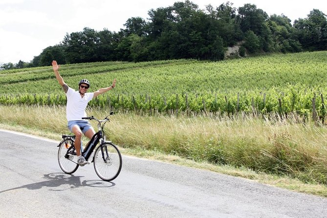 Saint-Emilion full day electrical bike tour with lunch from Bordeaux
