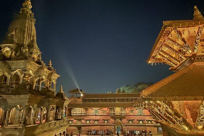Walking tour of night market and night life in Kathmandu