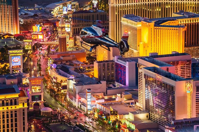 Las Vegas Strip Helicopter Night Flight with Optional Transportation