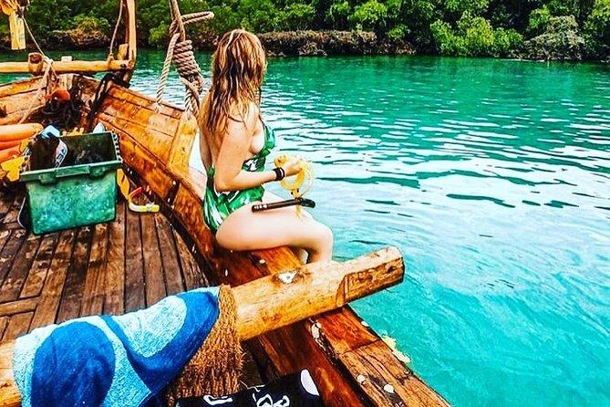 Zanzibar Safari Blue Tour; Kwale Island & Sandbank: Departure from Jambiani