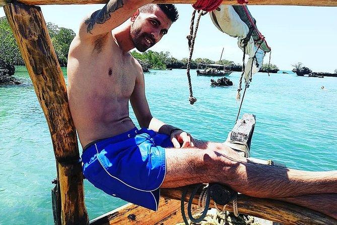 Zanzibar Safari Blue Tour; Kwale Island & Sandbank: Departure at Pwani Mchangani