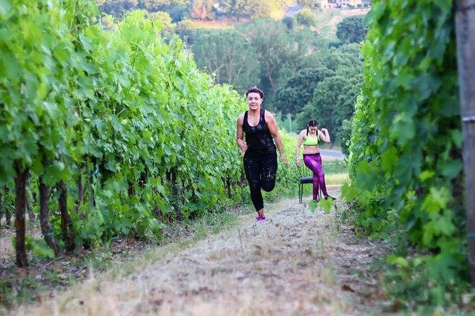 Fitness lesson among the vineyards