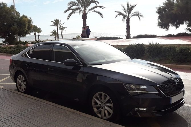 Transfer from Calpe to Alicante airport in private Sedan car max. 3 passengers