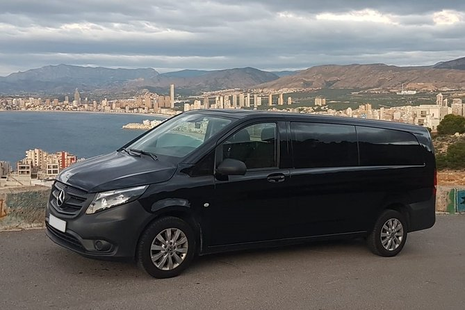 Transfer from Alicante airport to Calpe in private Minivan car max. 6 passengers