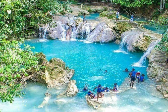 Blue Hole and Secret Falls plus Luminous Lagoon (Glistening Water) Private Tour