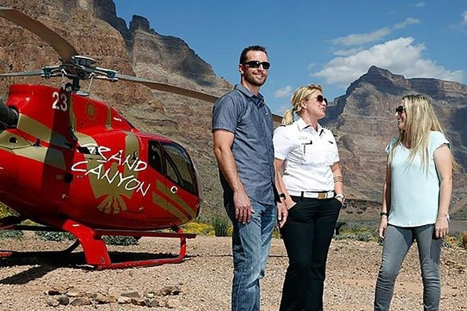 Grand Canyon Helicopter Tour from Las Vegas with Champagne & Light Picnic