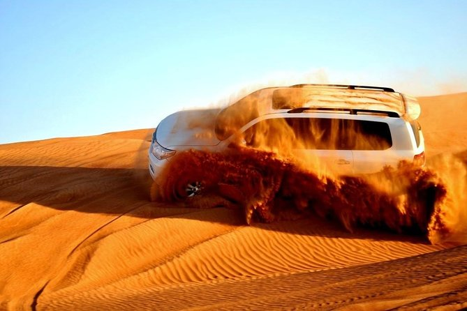 Exclusive Morning Desert Safari with Sand Boarding and Camel Ride