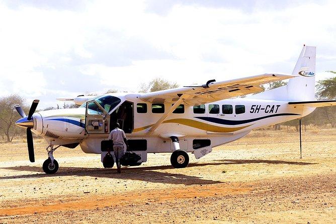Zanzibar Scenic Flight: Departure from Pwani Mchangani Beach Zanzibar