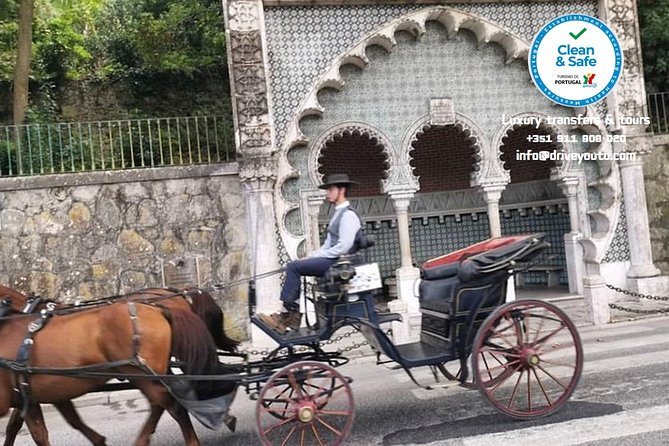 8h private tour in Sintra and Cascais. Up to 3 Pax in Luxury Sedan