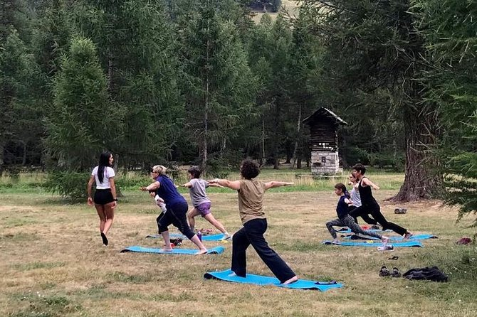Yoga classes at the foot of Mont Blanc