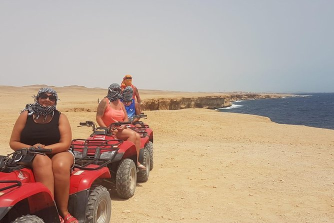 quad bike along coastline