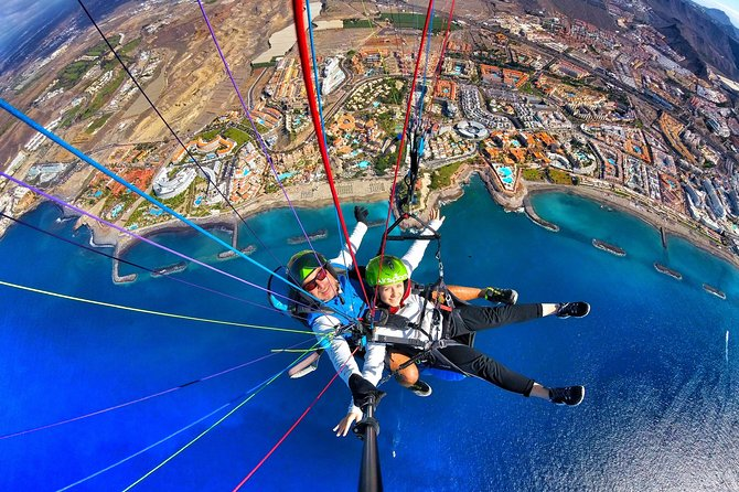 BRONZE paragliding tandem flight above Costa Adeje with free pick up and water