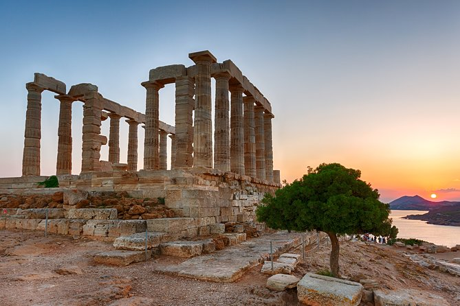 Temple of Poseidon and Cape of Sounion private sunset Tour