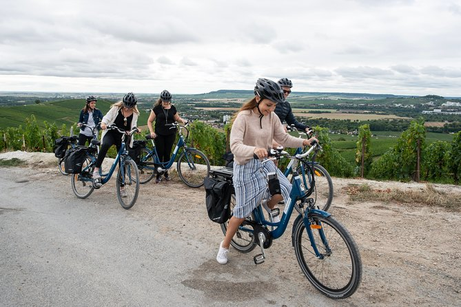 Champagne Self Guided E-Bike Tour to Hautvillers with Lunch and Tastings