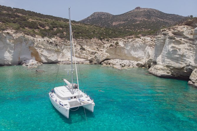 Semi-Private Catamaran Tour of Milos Island with Lunch