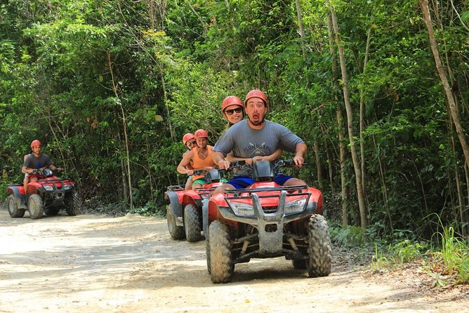 Atv single, Zipline circuit and Cenote swiming experience from Cancun,