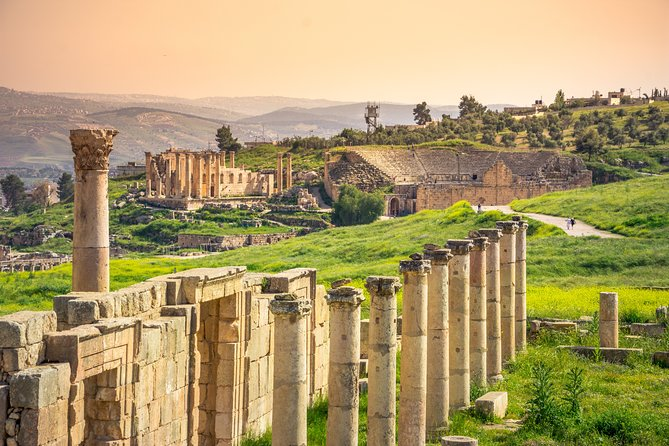 Jordan Pass 7-Day Tour Roman Ruins of Jerash, Petra, Wadi Rum, and the Dead Sea