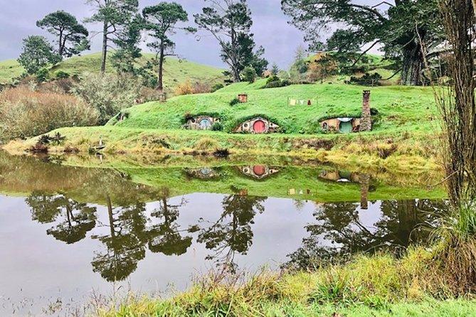 Hobbiton,Waitomo Glowworm Caves including Te Puia(Rotorua)Geothermal Valley Tour