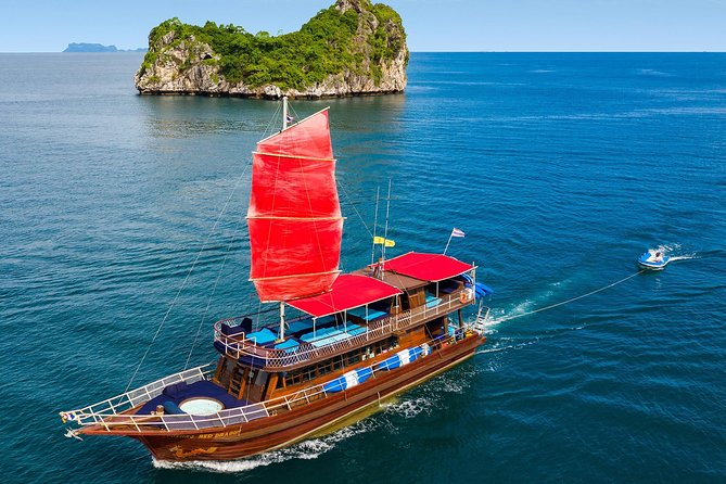 Private Full-Day Red Dragon Yacht for Snorkeling Koh Tan & Visit Pink Dolphin