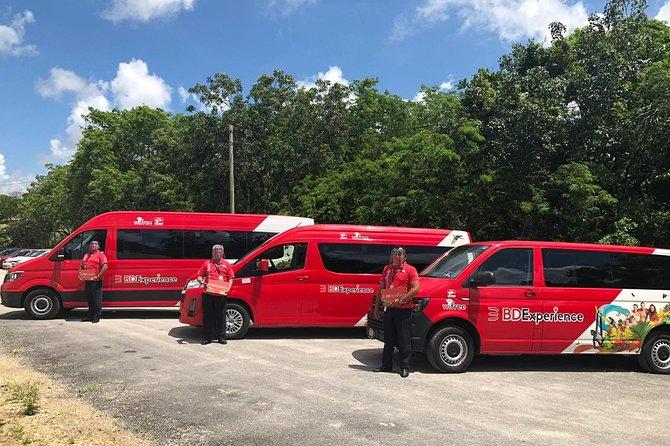 Traslado privado ida y vuelta VAN-Apto-Hotel-Apto- Htls. Cozumel C/Tickets Ferry