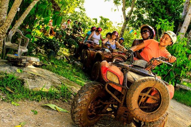 Adrenaline ATV and Ziplines with Cenote Swim Experience