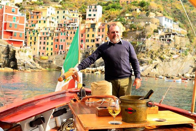 Private aperitif in Cinque Terre on historic boat