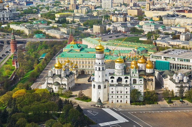Moscow: City walking tour & Lunch & Kremlin Museum