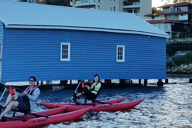 Waterbike Tour around Blue Boat House in Perth